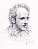 Quick portrait man by SILENTJUSTICE