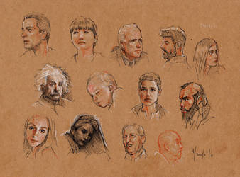 Faces sketches study 11 by SILENTJUSTICE