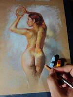 Quick pastels practice CA by SILENTJUSTICE