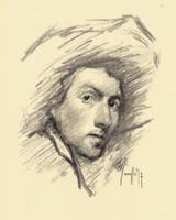 Quick sketch study OCh by SILENTJUSTICE
