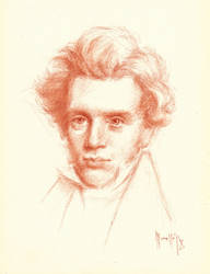 My version of Soren Kierkegaard by SILENTJUSTICE