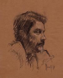 Quick portrait BM by SILENTJUSTICE