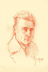 Quick portrait in sanguine SP by SILENTJUSTICE