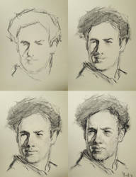 Daily portrait practice process 191218 by SILENTJUSTICE