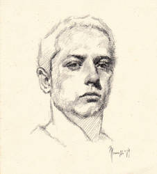Daily quick practice portrait 4119 by SILENTJUSTICE