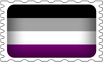 Asexual Pride Stamp by lovemystarfire
