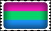 Polysexual Pride Stamp by lovemystarfire