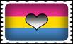 Panromantic Pride Stamp by lovemystarfire