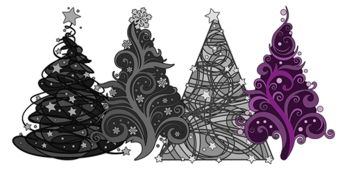 Asexual Christmas Trees by lovemystarfire