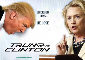 Trump vs Clinton by Freyad-Dryden