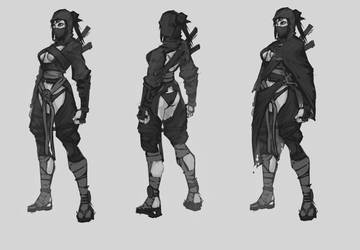 .Mysterious Ninja Girl.. by MadiBlitz