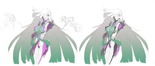 Haruko Demon_sketch by MadiBlitz