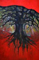 Red Tree by wojtekkowalski58