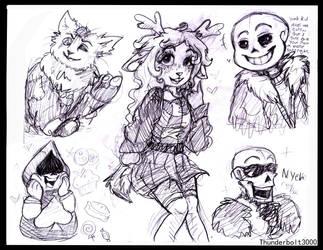 More Deltarune Doodles by thunderbolt3000