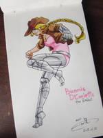 Bunnie the Human by FinikArt