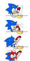 Sonic vs. Ketchup by FinikArt