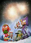 Chaotix fireworks by FinikArt