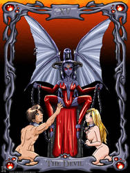 PE Tarot Cards - The Devil by lynnwood