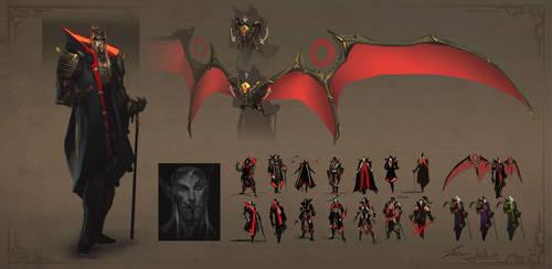 Dracula Character Design - Revision by EsbenLash