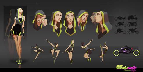 Cleo Character Design - Velocity by EsbenLash