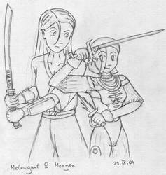 Mel and Meagen sketch by MeagenImage