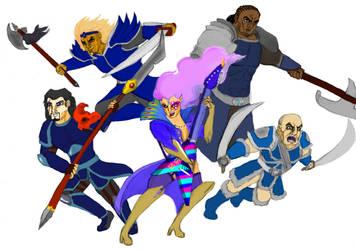 Five Phoenix Generals (Colour) by HisPurpleness