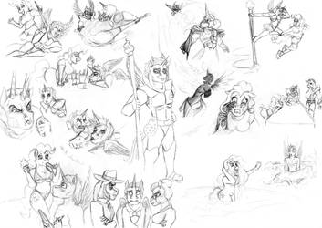 Artie Bristles Character Study by HisPurpleness