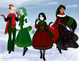 Outter Senshi out Caroling by Arimus79