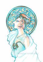 Art Nouveau Pearl by Buntglas