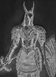 Black Knight, Dark Souls - inverted colors by SteveOdinson