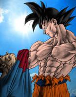 Goku Vs SuperMan by Anasukiable