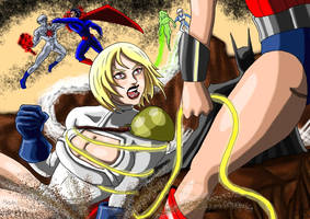 DC Civil War...Powergirl Vs Wonderwoman by adamantis