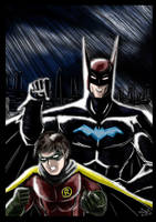 Batman and Robin - Robins turn. by adamantis