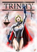Trinity - Powergirl, Captain Atom, Atlee by adamantis