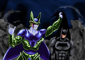 Cell Vs Batman by adamantis