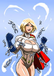 Power Girl - Breaking Chains III by adamantis