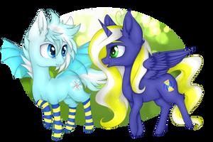 MLP Chibis - Th3BlueRose Commission by kseniyart