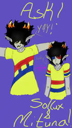 Ask!Sollux and Mituna by CandyFoxyWolf
