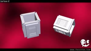 Cube Planter V2 by Fesothe