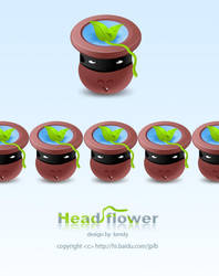 HEAD FLOWER by jipailuobo