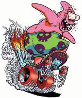 SPONGEBOB Hot Rod: PATRICK by yourpalSmitty