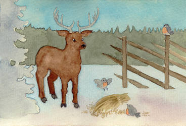 Deer card by Epanormal