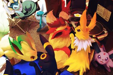 Wild pokemon at the campsite by Ninja-Jamal