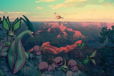 Wild Flygon Families in Grand Canyon by Ninja-Jamal