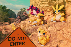Wild Ground and Rock pokemon in Grand Canyon by Ninja-Jamal