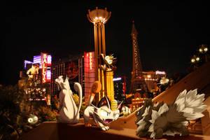 Wild Persian w/Meowth encounter Zigzagoon in Vegas by Ninja-Jamal