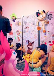 Wild Pokemon Anime Expo 2013 at drawing area by Ninja-Jamal