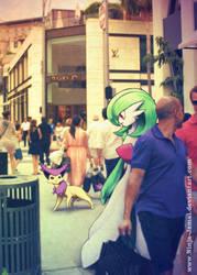 Wild POkemon Encounter in Beverly Hill by Ninja-Jamal