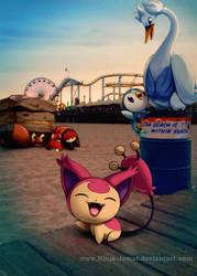 Wild Pokemon on Beach Patrol!! by Ninja-Jamal