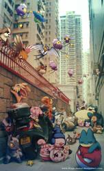 Wild Pokemon living in the City by Ninja-Jamal